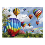 Hot Air Balloons Wenskaart