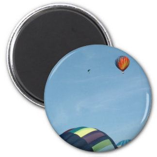 Hot air balloons, with parachute 2 inch round magnet