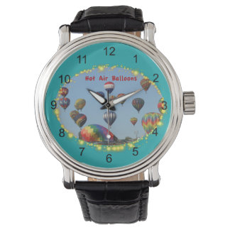 Hot Air Balloons with Sparkle Border Watch