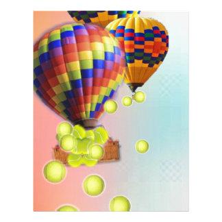Hot-Air balloons with tennis balls Letterhead