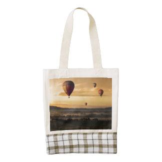 Hot air balloons zazzle HEART tote bag