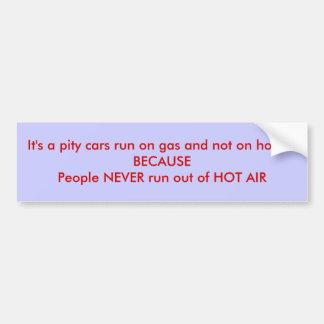 Hot Air Bumper Sticker