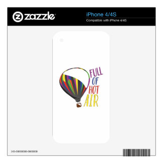 Hot Air Decals For iPhone 4
