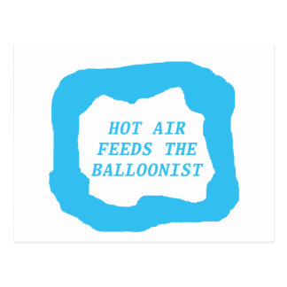 Hot air feeds the balloonist .png postcard