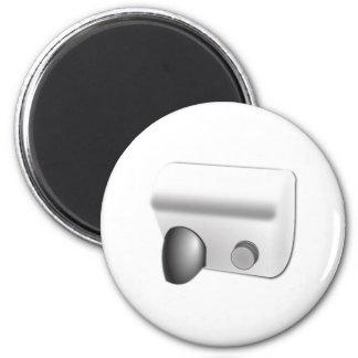Hot Air Hand Dryer 2 Inch Round Magnet
