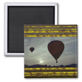 Hot Air Launch 2 Inch Square Magnet