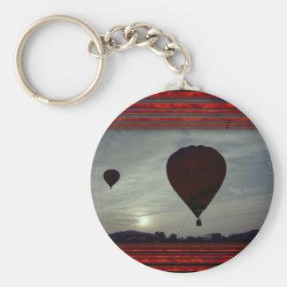 Hot Air Launch Basic Round Button Keychain