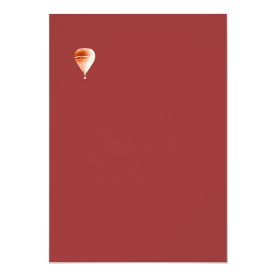 Hot Air stationary Card