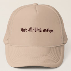 Trucker Hat with Hot All-Bird Action design