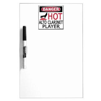 Hot Alto Clarinet Player Dry-Erase Boards