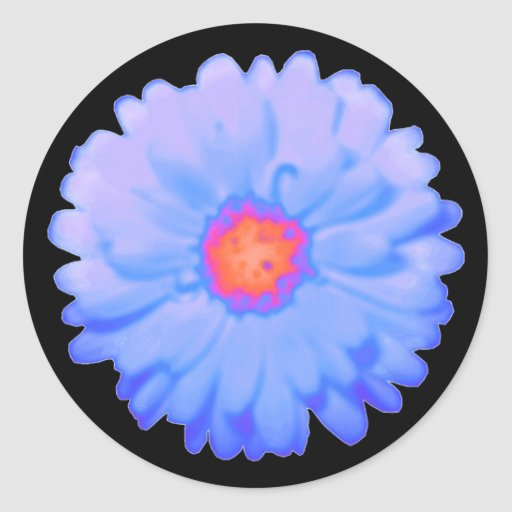 Hot and Cold Marigold Round Stickers