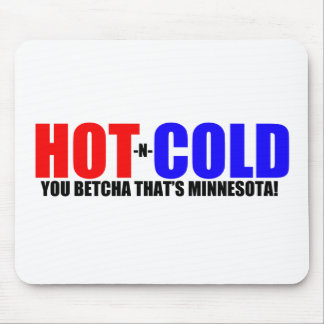 Hot and Cold MN Weather Mouse Pad