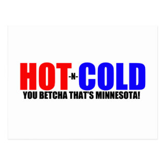 Hot and Cold MN Weather Postcard