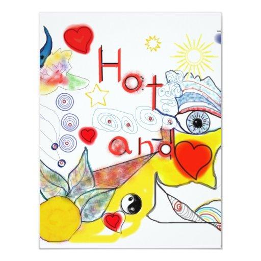 Hot and Cold tarjetas de invitación