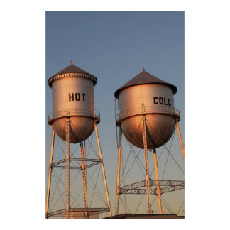Hot And Cold Water Towers Poster