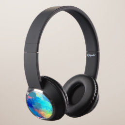 hot and cool abstract headphones