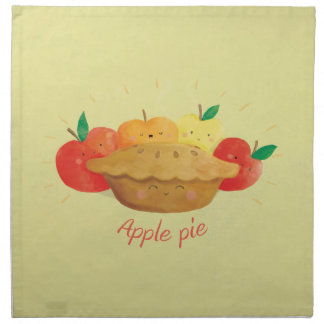 Hot and Cute Apple Pie Napkin