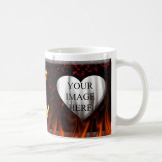 Hot and Gay fire and flames red marble Coffee Mug