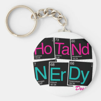Hot and nerdy periodic table basic round button keychain