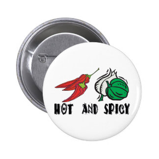 Hot And Spicy Pinback Button