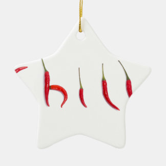 hot and spicy red chilies ceramic ornament