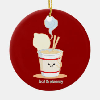 Hot and Steamy Ceramic Ornament