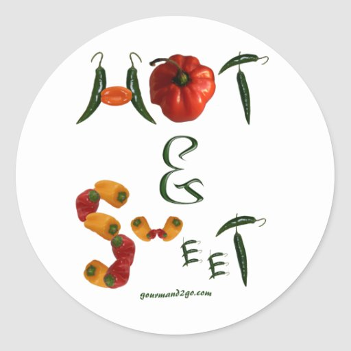 Hot and Sweet Round Sticker