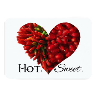 Hot and Sweet Valentine Heart Card