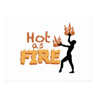 Hot As Fire Postcard