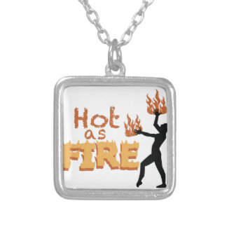 Hot As Fire Silver Plated Necklace