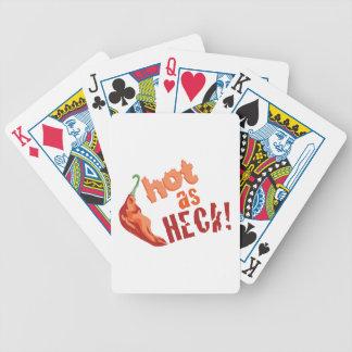 Hot as Heck Bicycle Playing Cards