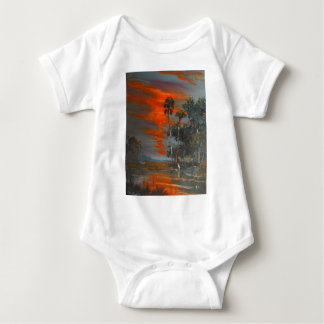 Hot August Fire Sky Baby Bodysuit