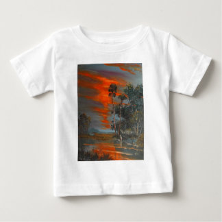 Hot August Fire Sky Baby T-Shirt