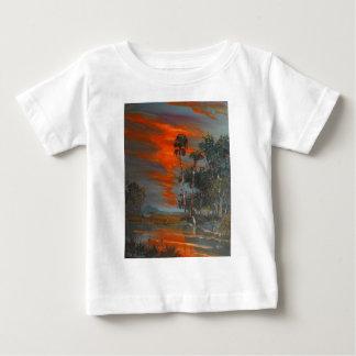 Hot August Fire Sky Baby T-Shirt