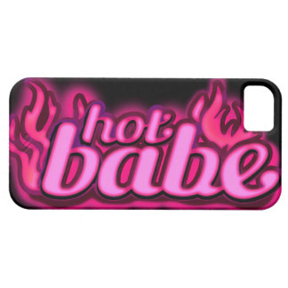 """""""hot babe"""" flame pink & black iphone 5 case"""