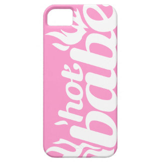 """""""hot babe"""" flame pink & white iphone5 case"""
