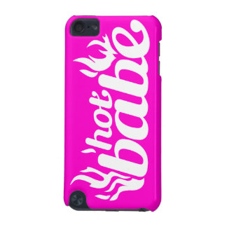 """""""hot babe"""" hot pink & white logo iPod touch 5G cover"""