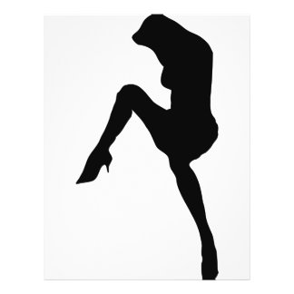 hot babe silhouette icon flyer