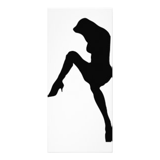 hot babe silhouette icon rack card