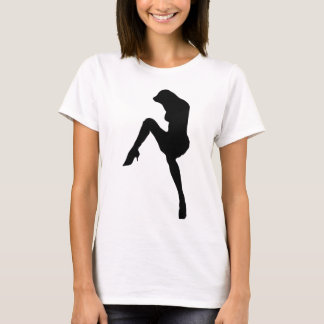 hot babe silhouette icon T-Shirt