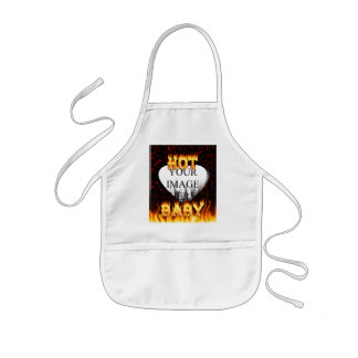 Hot baby fire and red marble kids' apron