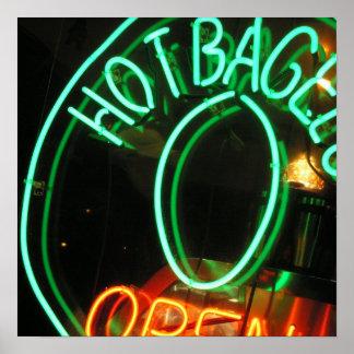 Hot Bagels Poster