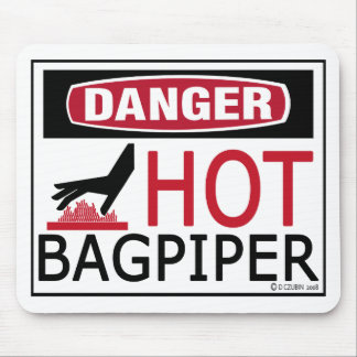Hot Bagpiper Mouse Pad
