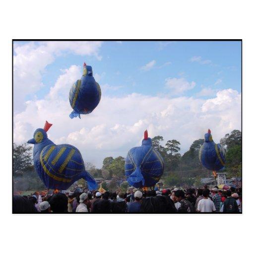 Hot Balloon Festival Postcard