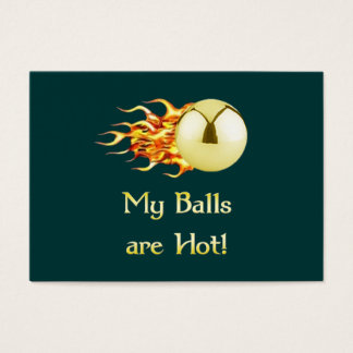 Hot Balls Flaming Pinball Business Card