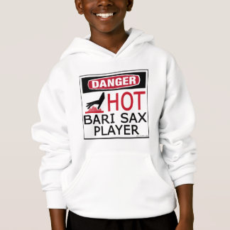 Hot Bari Sax Player Hoodie