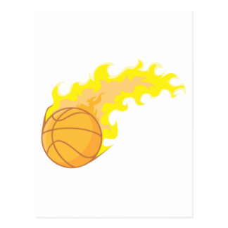 Hot Basketball Postcard