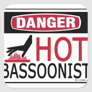 Hot Bassoonist Square Sticker