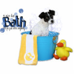 Hot Bath - Rat Terrier - Rosco Acrylic Cut Out