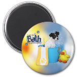 Hot Bath - Rat Terrier - Rosco Refrigerator Magnet